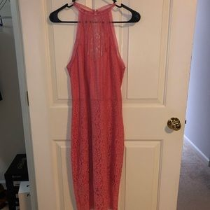 Coral Lace Express Dress